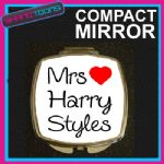 LOVE HARRY STYLES MRS COMPACT LADIES METAL HANDBAG GIFT MIRROR